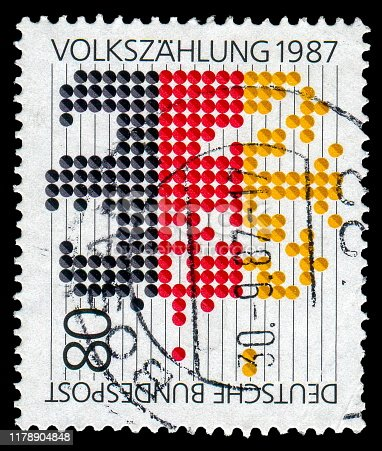 1190039622istockphoto Germany stamp: census 1987 1178904848