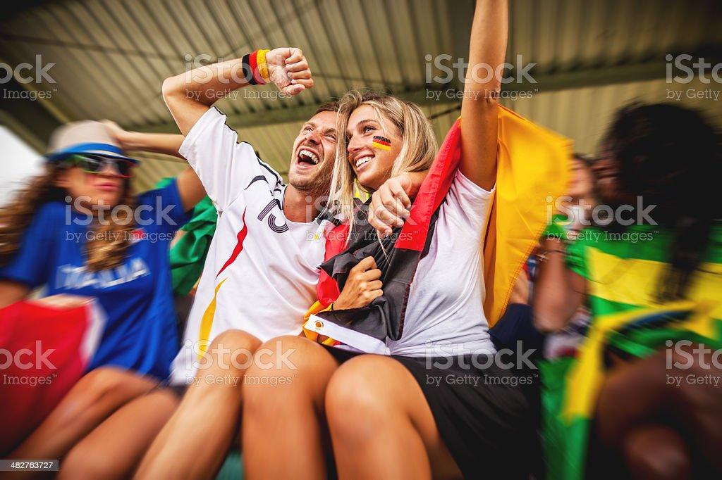 Alemanha adeptos e amor - foto de acervo