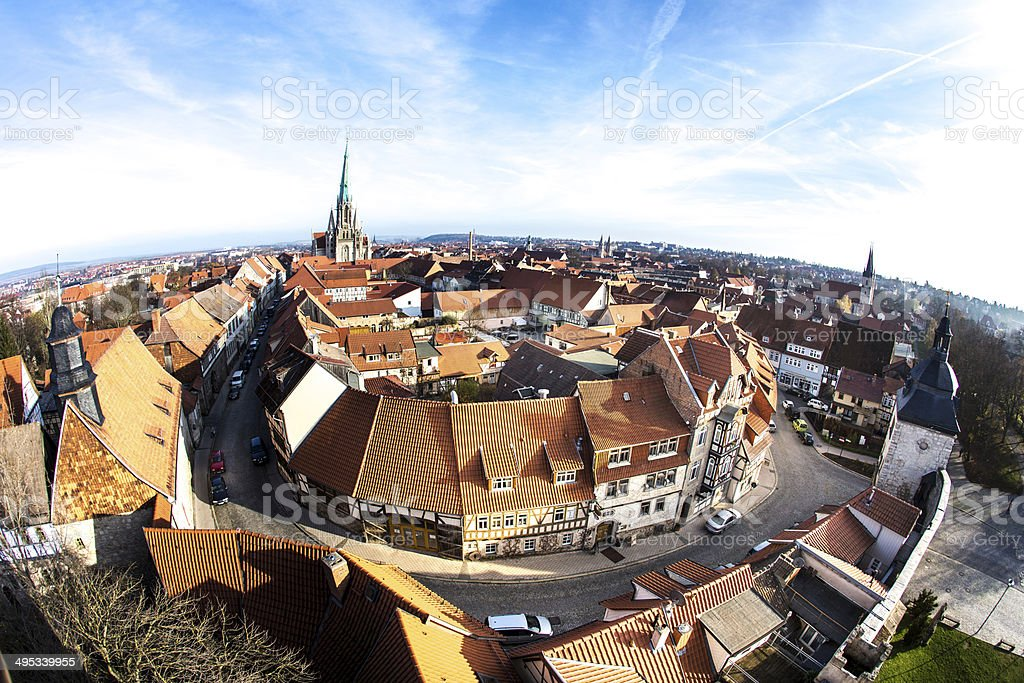 Germany, Thuringia, Muhlhausen, cityview stock photo