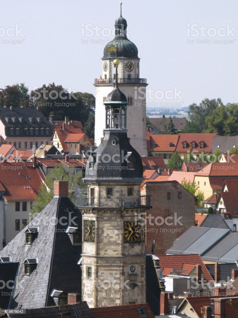 Germany: View over the old town of Altenburg stock photo