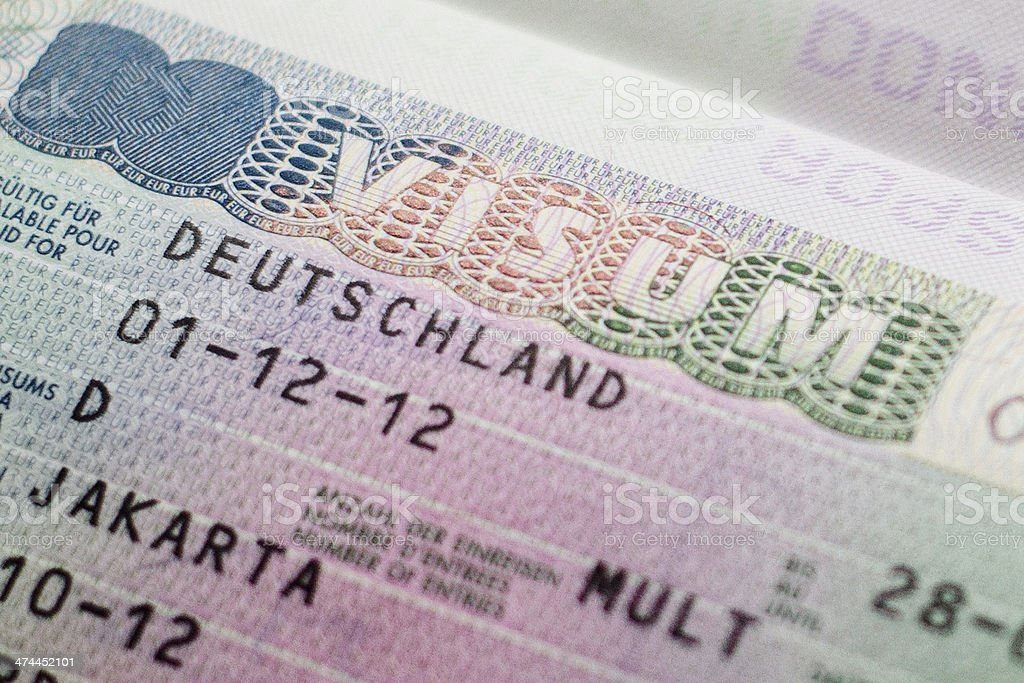 Germany Visa Stock Photo More Pictures Of Business Travel Istock