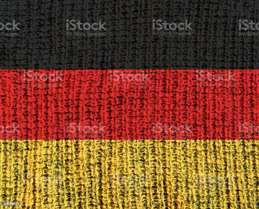 Germany Wool Textured Flag stock photo