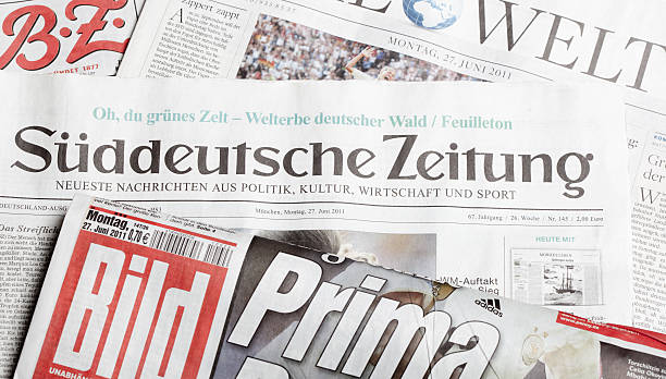 Germany's largest newspapers stock photo