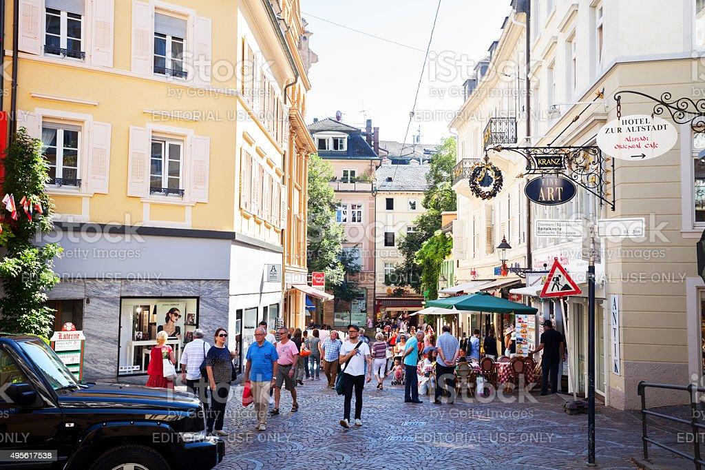 Gernsbacher Straße in Baden-Baden stock photo