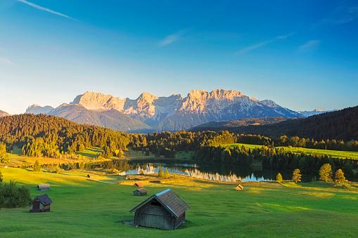 Geroldsee at sunset, Garmisch Patenkirchen, Alps