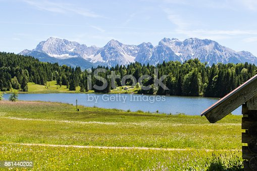 876420064istockphoto Geroldsee Lake with the Karwendel Mountains 861440202