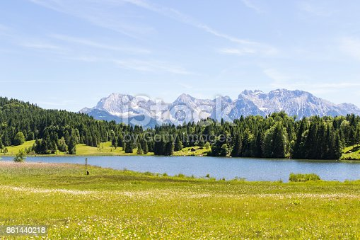 876420064istockphoto Geroldsee Lake with the Karwendel Mountains 861440218