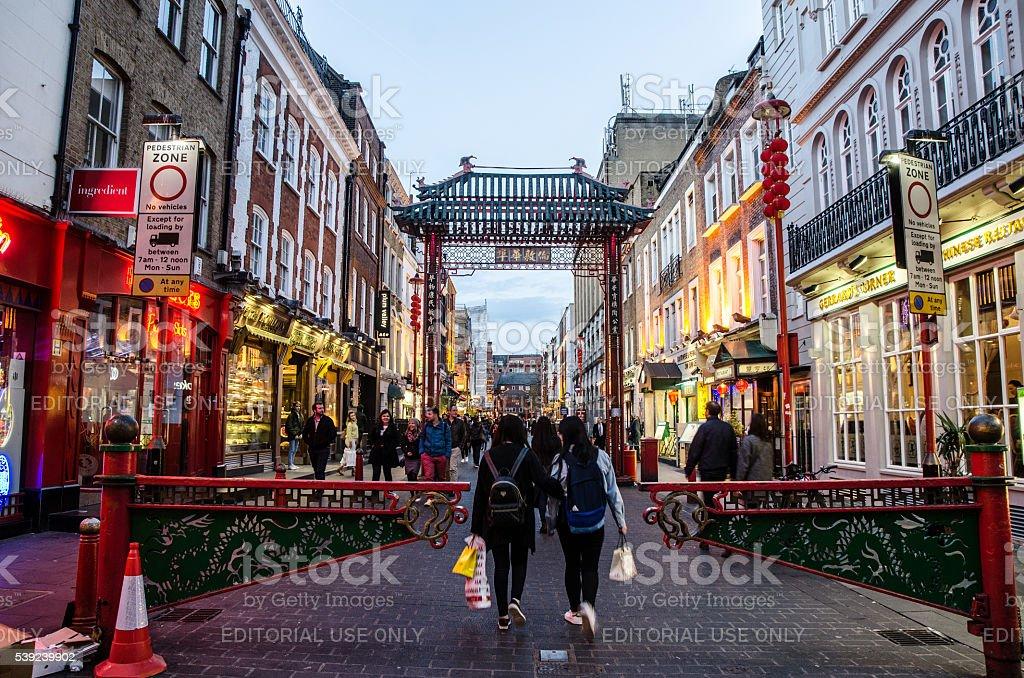 Gerrard Street in London China Town royalty-free stock photo