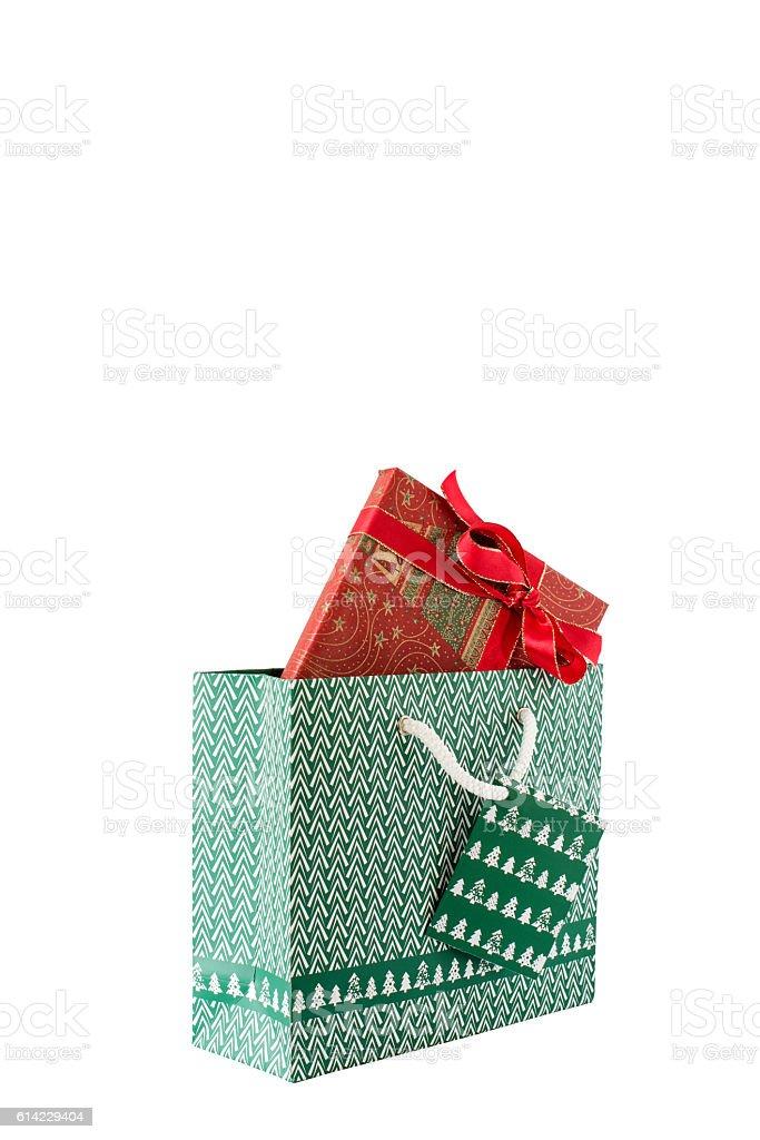Geschenk mit Einkaufstasche stock photo
