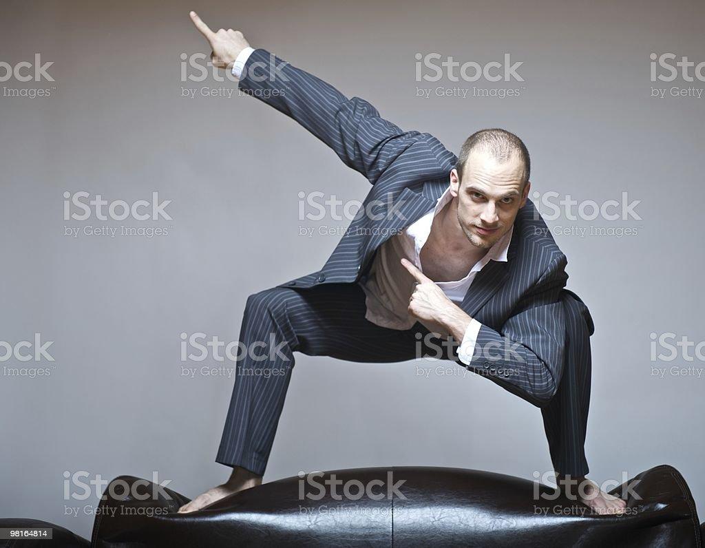 Geschäftsmann auf Couch royalty-free stock photo