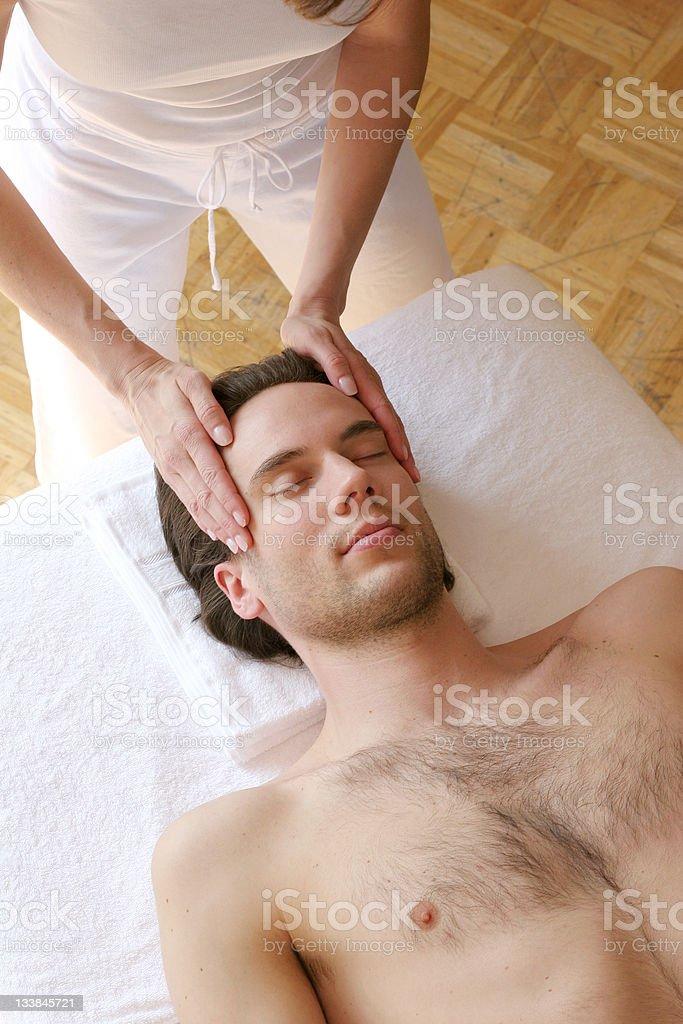Gesichtsmassage royalty-free stock photo