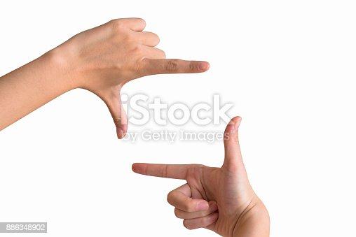 istock Gesture, finger, frame 886348902