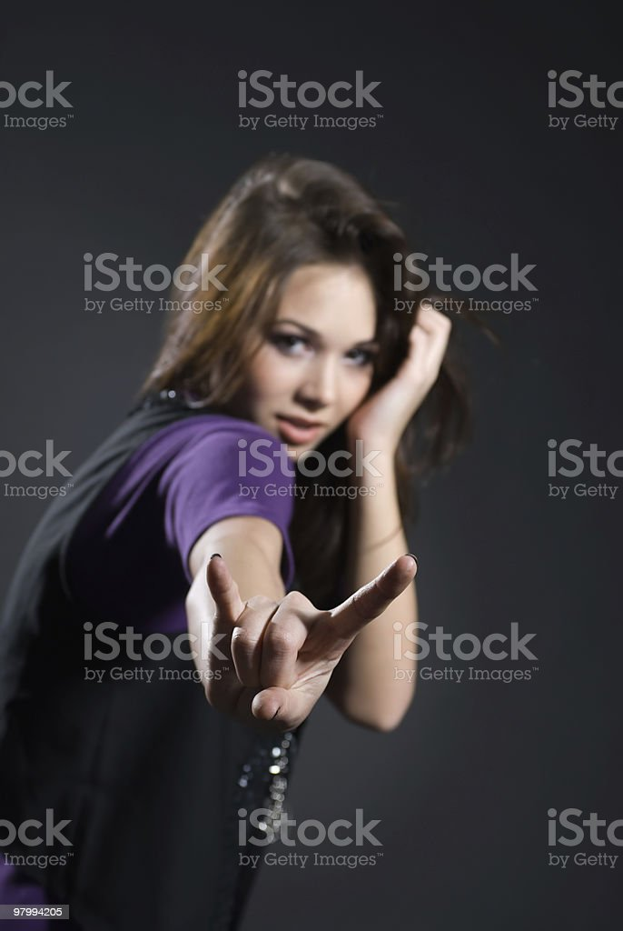 Gesture girl royalty-free stock photo