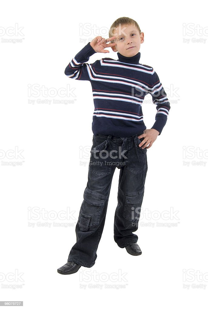 Gesture Little Boy. royalty-free stock photo