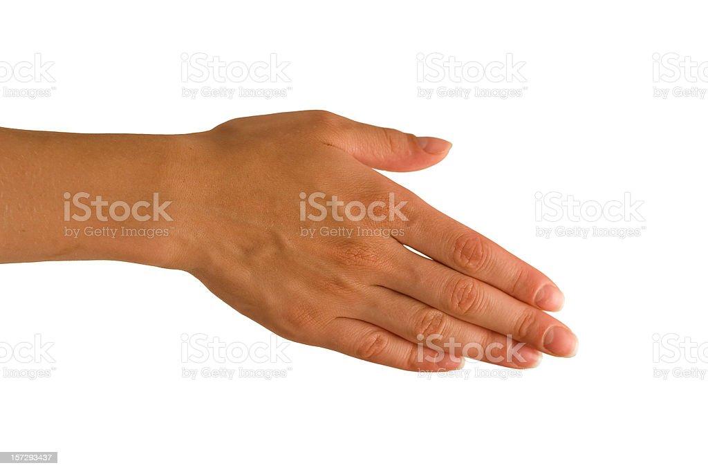 Gesture of handshake royalty-free stock photo