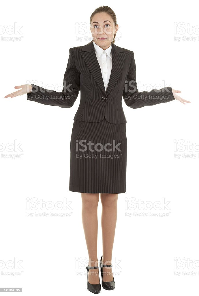 gesture of surprise royalty-free stock photo