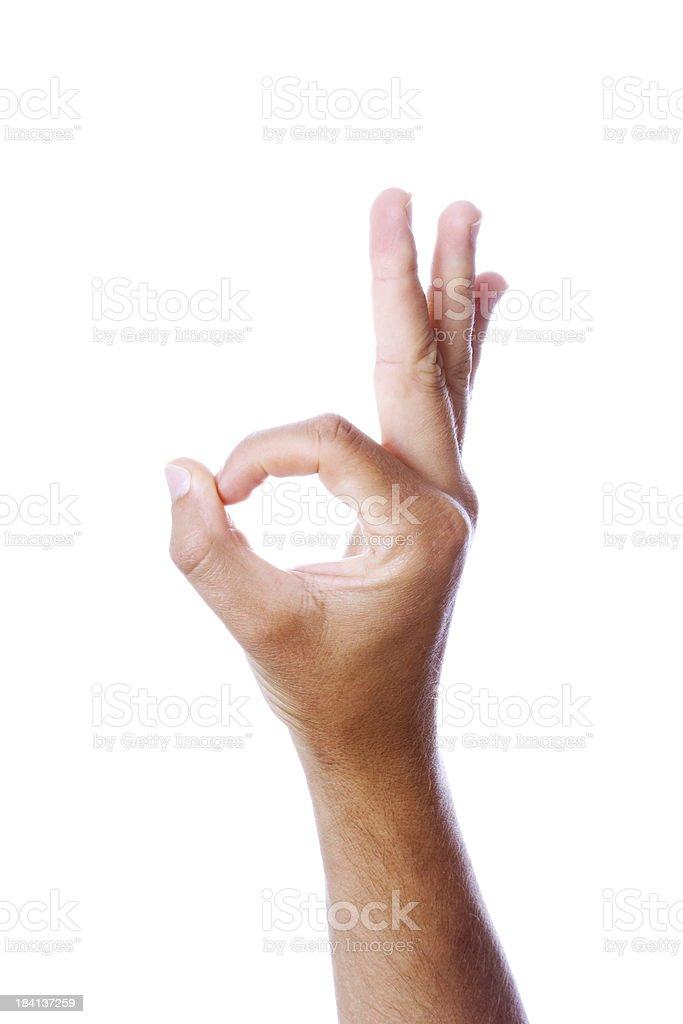 OK gesture stock photo