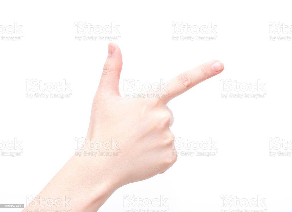 Gesture symbols: Number Eight stock photo