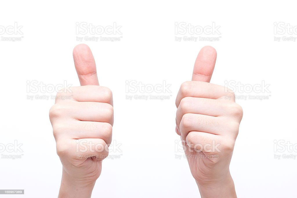 Gesture symbols' very good' stock photo
