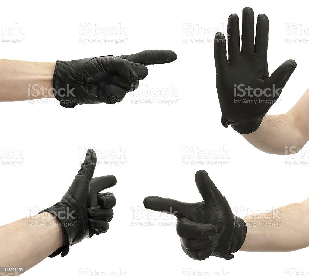 Gestures directions stock photo