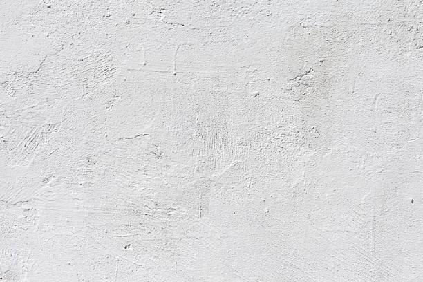 fondo de pared de hormigón sucia blanco - estuco fotografías e imágenes de stock