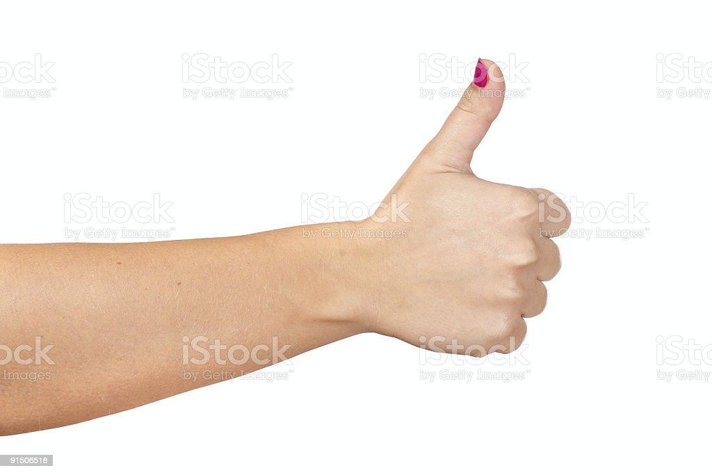 gesturing hand OK royalty-free stock photo
