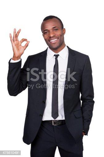 475529255 istock photo Gesturing OK sign. 475510491