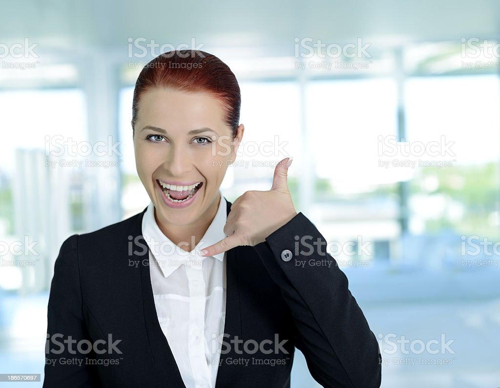 gesturing phone talk royalty-free stock photo