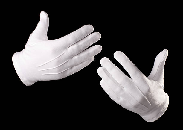 gestes - paire de gants photos et images de collection