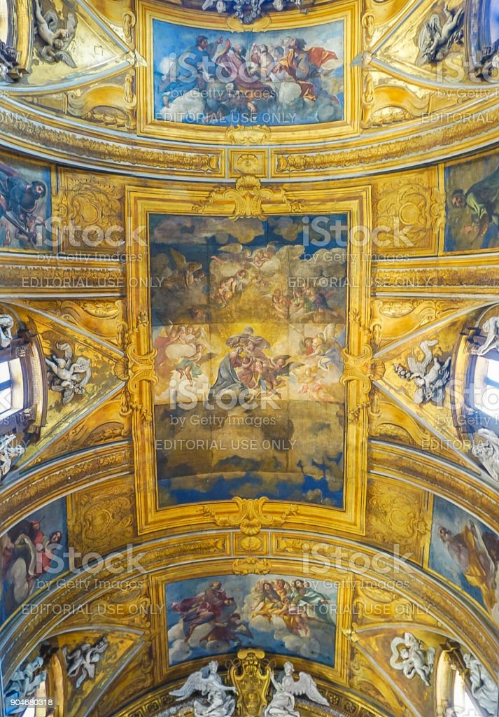 Gesu e Maria Church in Rome, Italy. stock photo