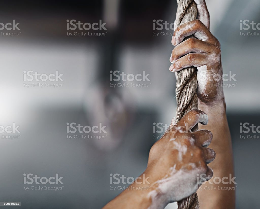 Get a grip! stock photo