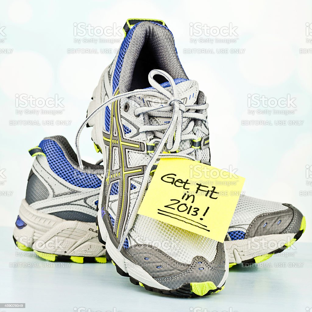 Get Fit in 2013 royalty-free stock photo