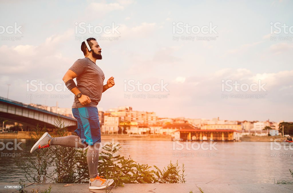 Get fit in the city. stock photo