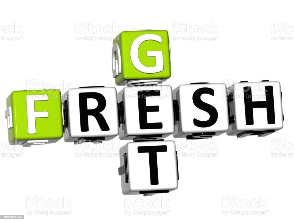 Texte de Get Fresh mots croisés 3D photo libre de droits