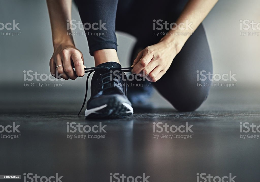 Get healthy and hit the ground running stock photo