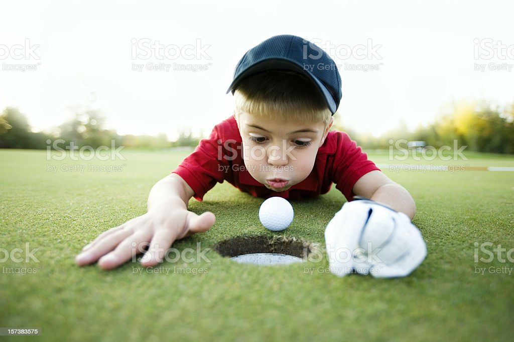 Get In the Hole! stock photo