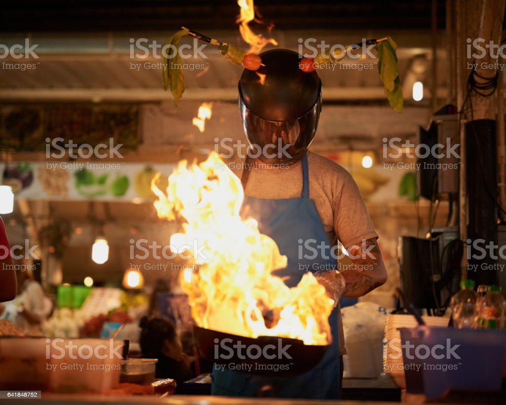 Get it while it's hot! stock photo