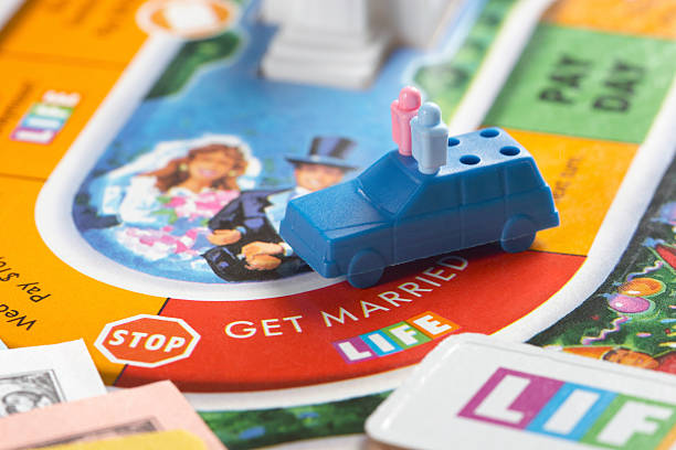 get married in life - game of life stock photos and pictures