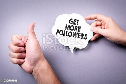 istock Get More Followers concept 1030515698