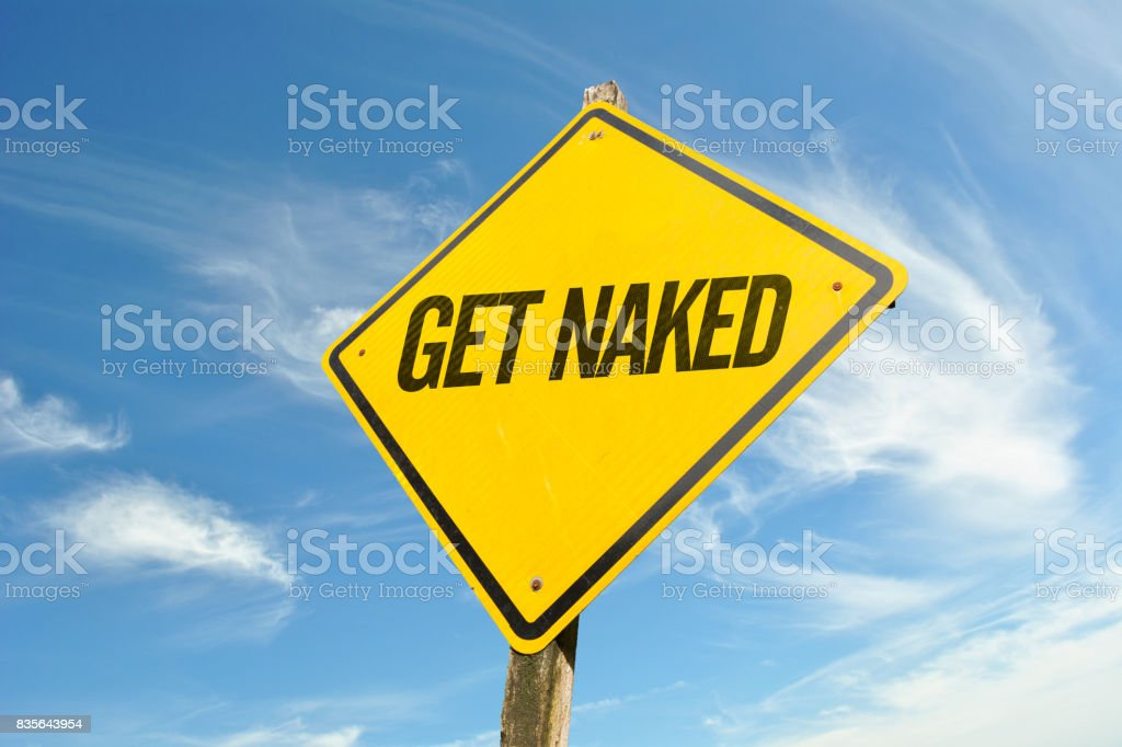 Get Naked stock photo
