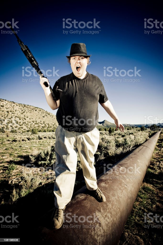 Get off NOW! This is my Oil !!! royalty-free stock photo
