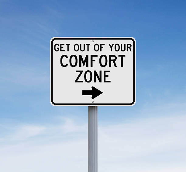 Get Out Of Your Comfort Zone Modified sign on leaving your comfort zone time zone stock pictures, royalty-free photos & images