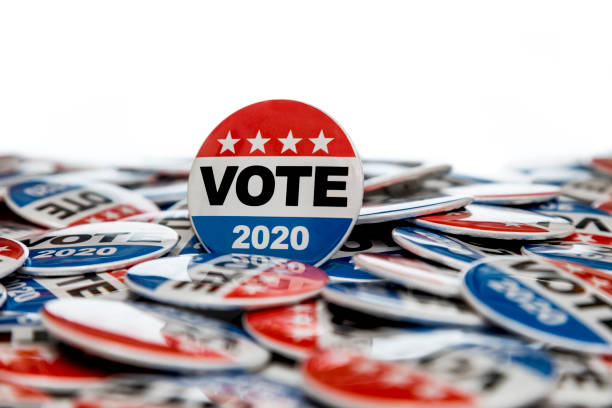 Get Out the Vote 2020 Presidential Voting Buttons stock photo