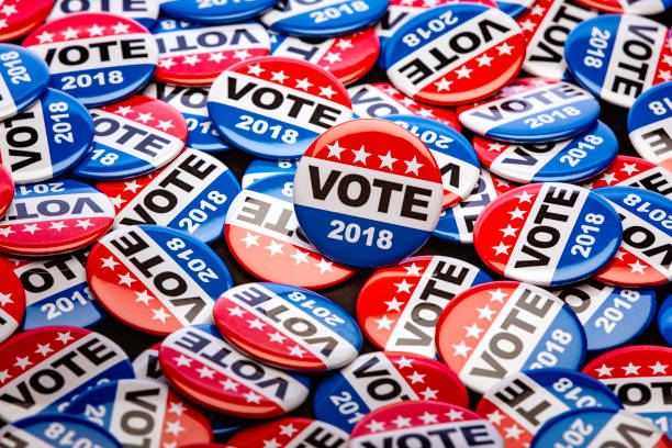get out the vote - button stock photos and pictures