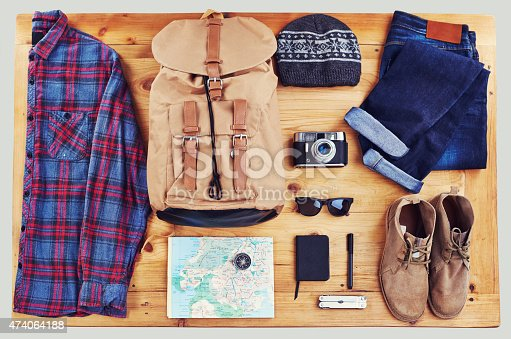 High angle shot of hiking gear on a table tophttp://195.154.178.81/DATA/i_collage/pu/shoots/804615.jpg