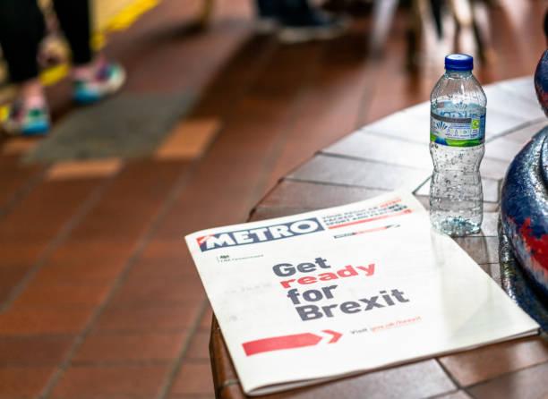 Machen Sie sich bereit für Brexit-Werbung auf Metro Zeitung – Foto