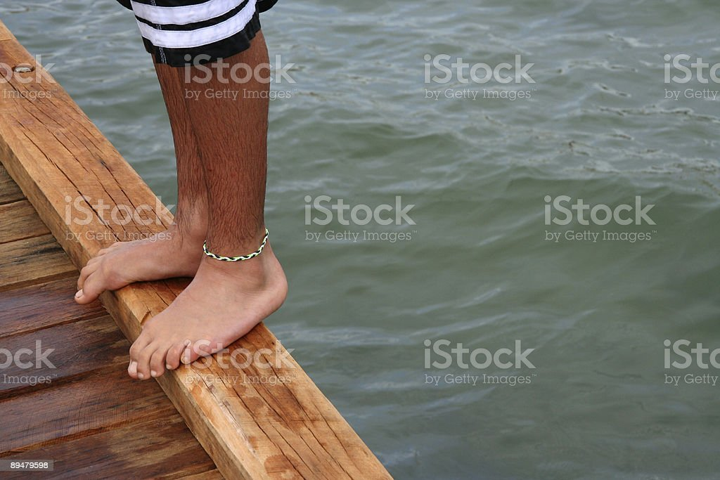 Get Ready to Jump royalty-free stock photo