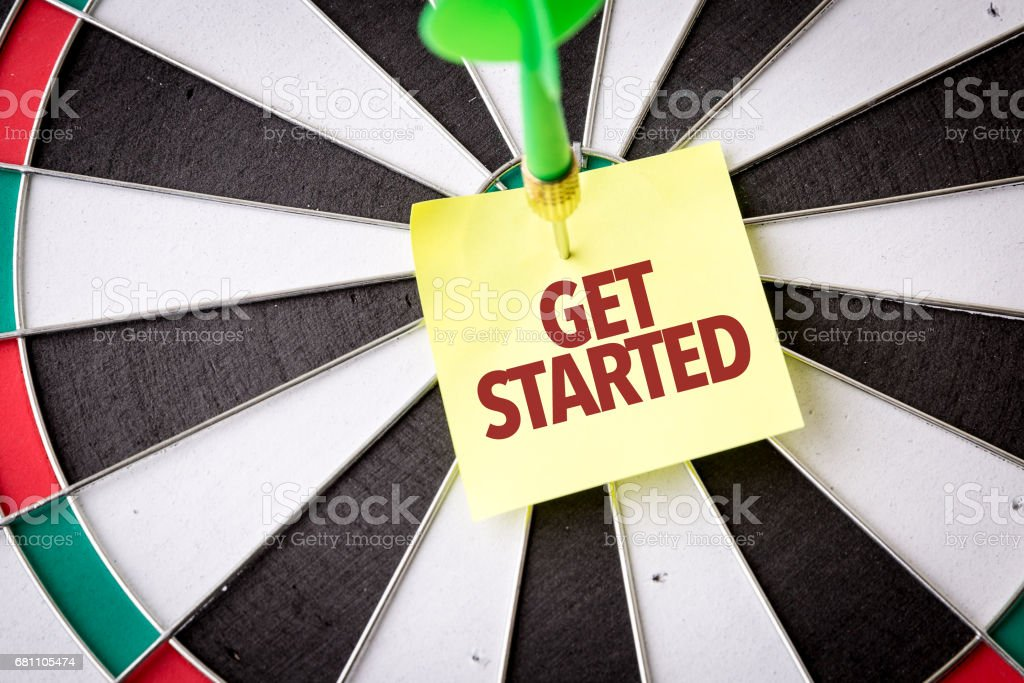 Get Started stock photo