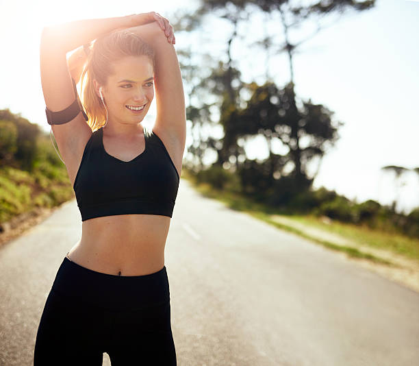 get the blood flowing and get going - gut health stock photos and pictures