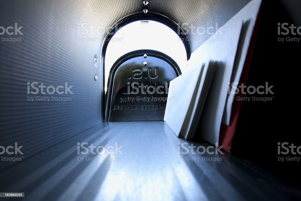Get the mail royalty-free stock photo